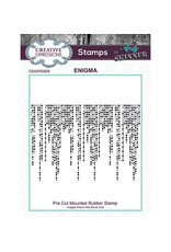Creative Expressions Creative Expressions  Pre Cut Rubber Stamp Enigma Andy SkinnerCEASRS008