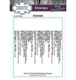 Creative Expressions Creative Expressions  Pre Cut Rubber Stamp Enigma Andy Skinner	CEASRS008