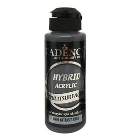 Cadence Cadence Hybride acrylverf (semi mat) Antraciet zwart 120 ml