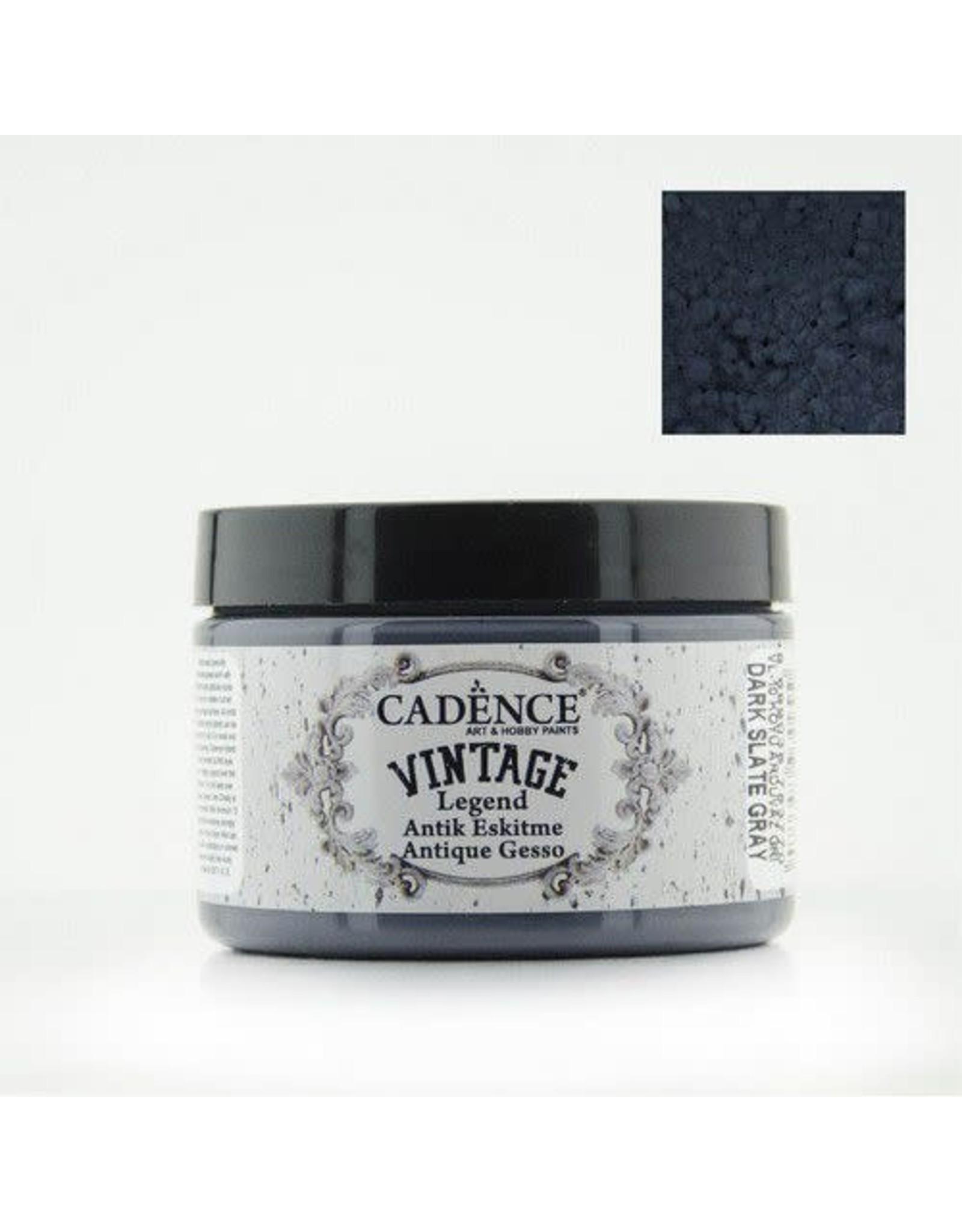 Cadence Cadence Vintage Legend gesso Dark Slate - grijs 150 ml