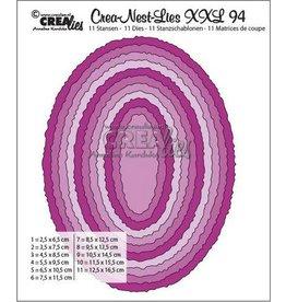 Crealies Crealies Crea-Nest-Lies XXL no 94 Ovalen met ruwe randen CLNestXXL94 125 x 165mm
