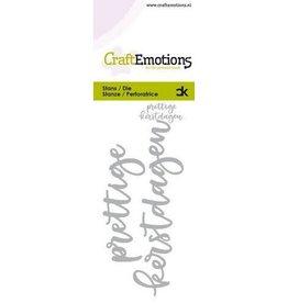 Craft Emotions CraftEmotions Die Handletter - prettige kerstdagen (NL) Card 5x10cm Carla Kamphuis