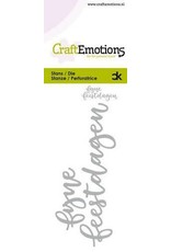 Craft Emotions CraftEmotions Die Handletter - fijne feestdagen (NL) Card 5x10cm Carla Kamphuis