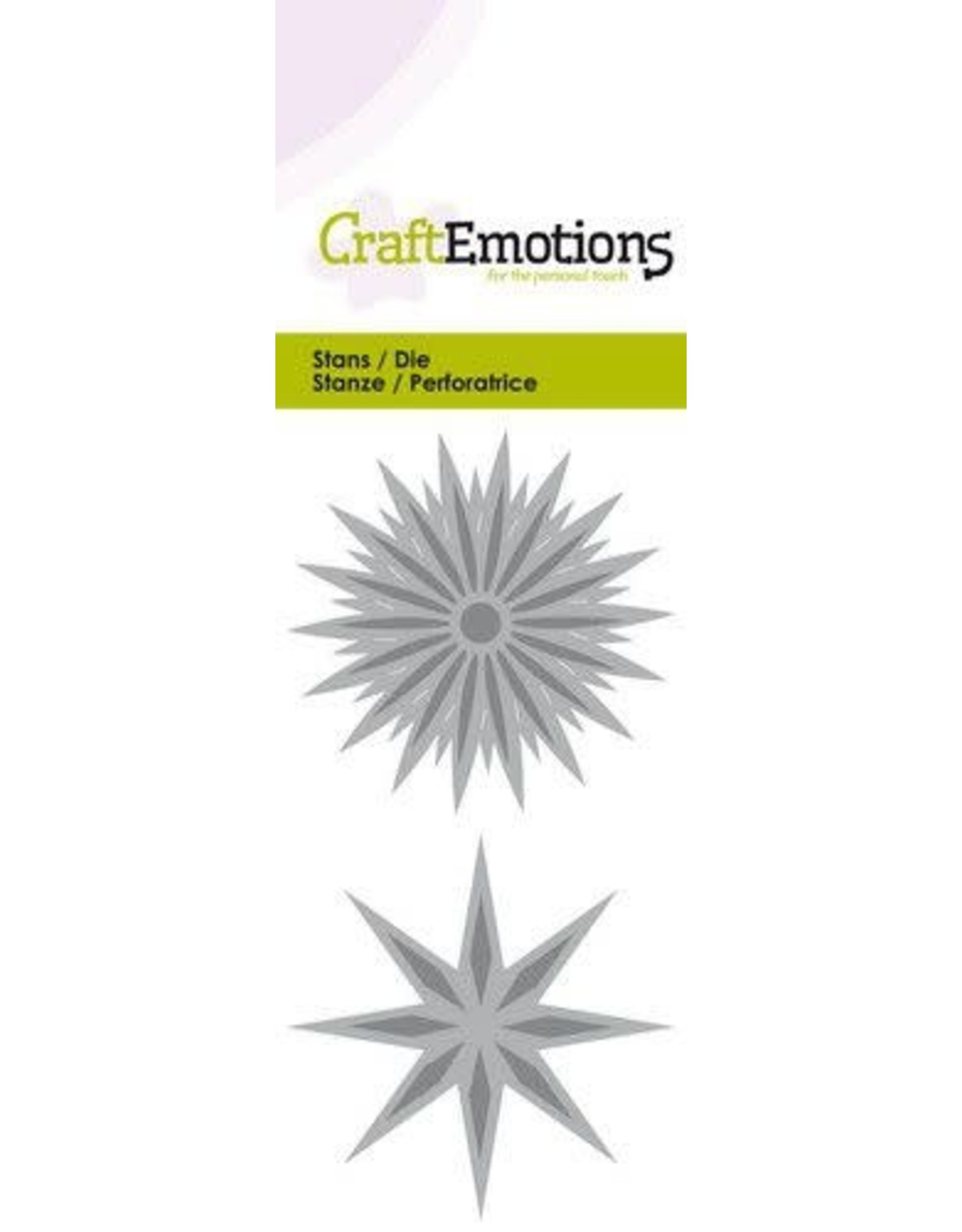 Craft Emotions CraftEmotions Die - ster fantasie Card 5x10cm - 5cm