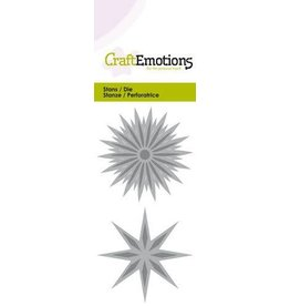 Craft Emotions CraftEmotions Die - ster fantasie Card 5x10cm - 5cm