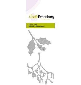 Craft Emotions CraftEmotions Die - hulst / mistletoe Card 5x10cm