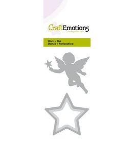 Craft Emotions CraftEmotions Die - kerstengel met ster Card 5x10cm