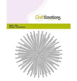 Craft Emotions CraftEmotions Die - ster - stralen rond Card 11x9cm - 8,5cm