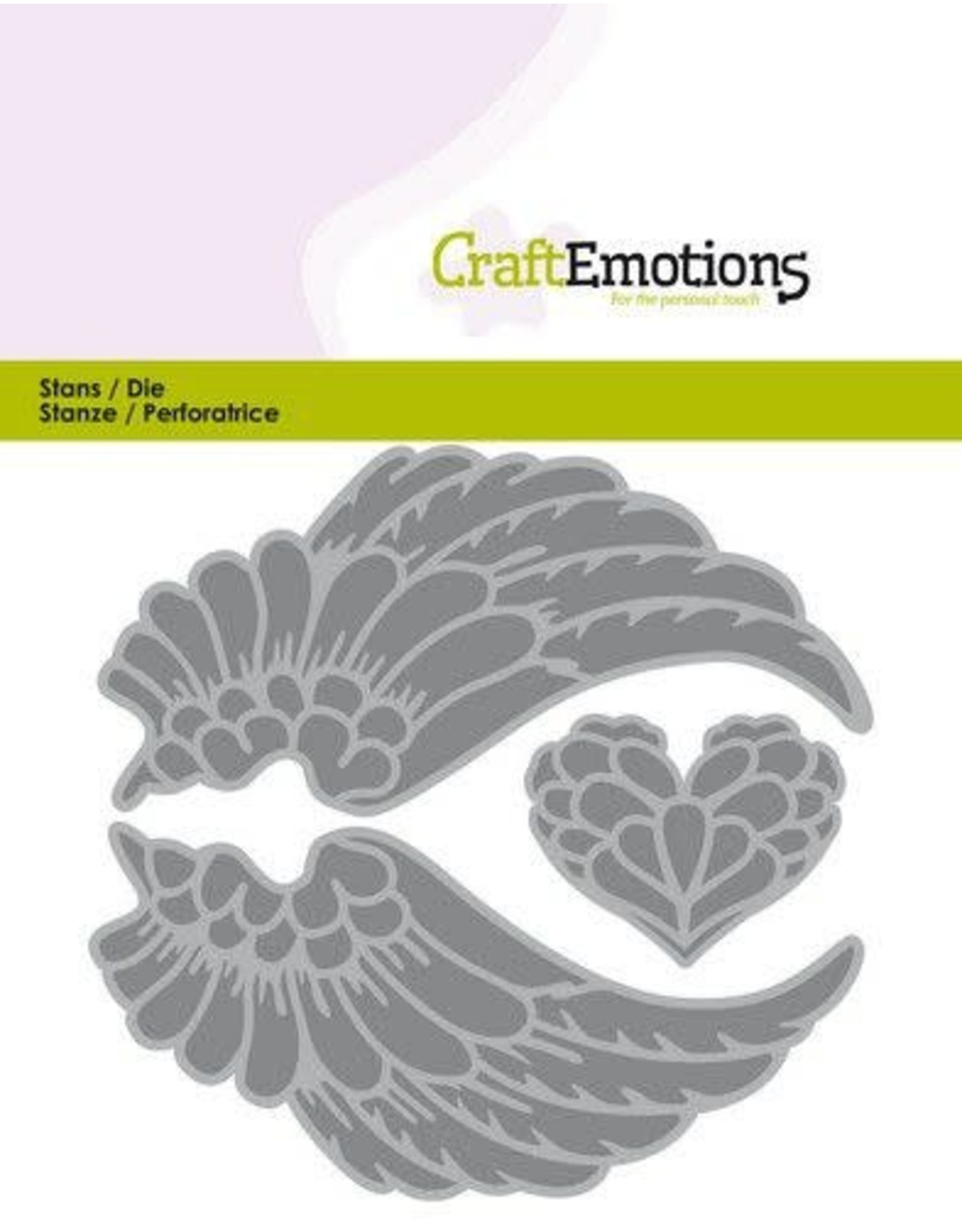 Craft Emotions CraftEmotions Die - vleugels engelen Card 11x9cm - 3,8cm - 9cm