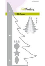 Craft Emotions CraftEmotions Die - kerstboom decoratie 3D Card 10,5x14,8cm - 10,5cm - 14,5cm