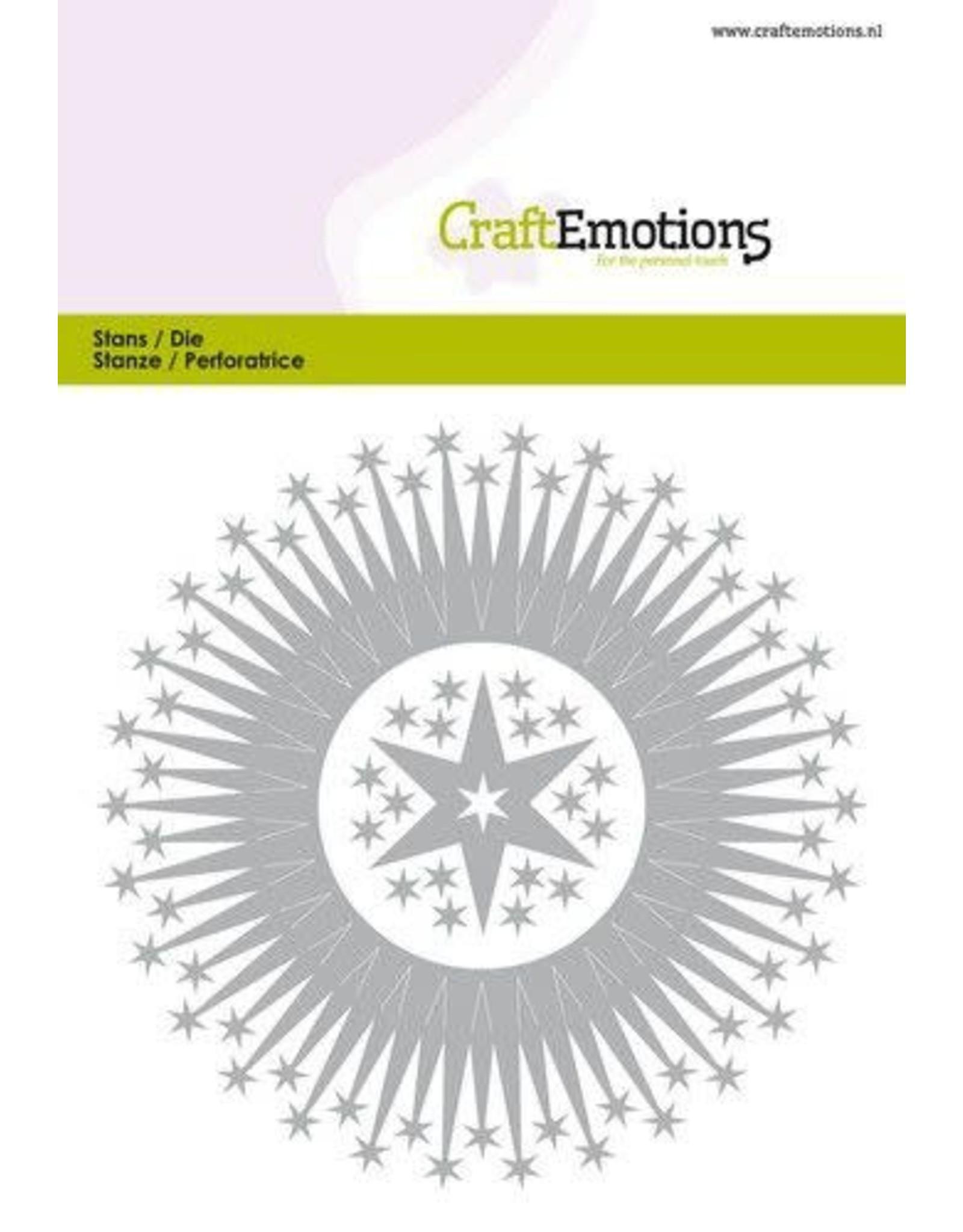 Craft Emotions CraftEmotions Die - border rond magic stars Card 10,5x14,8cm - 10cm