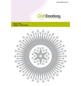 Craft Emotions CraftEmotions Die - border rond magic stars Card 10,5x14,8cm - 10cm