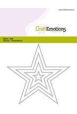 Craft Emotions CraftEmotions Die - randen 5 puntige ster Card 11x9cm - 1,5cm - 9cm