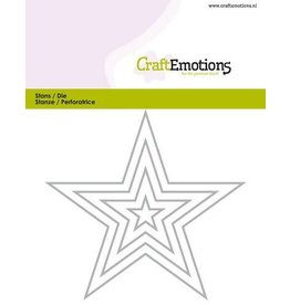 Craft Emotions CraftEmotions Die - randen 5 puntige ster Card 11x9cm - 1,5cm - 9cm