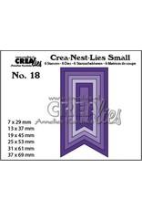 Crealies Crealies Crea-nest-Lies Small Vaandels glad (6x) CNLS18 / max. 37 x 62 mm
