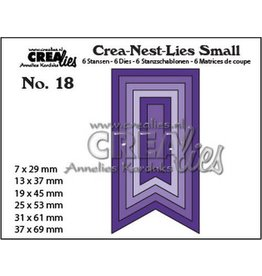 Crealies Crealies Crea-nest-Lies Small Vaandels glad (6x) CNLS18 / max. 37 x 62 mm