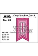 Crealies Crealies Crea-nest-Lies Small Vaandels met stippen (5x) CNLS20 / max. 36 x 68 mm