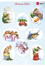 Marianne Design Marianne D Decoupage Christmas - Roodborstjes VK9578 A4