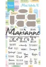 Marianne Design Marianne D Stamp & Die set Mini labels (NL) CS1028