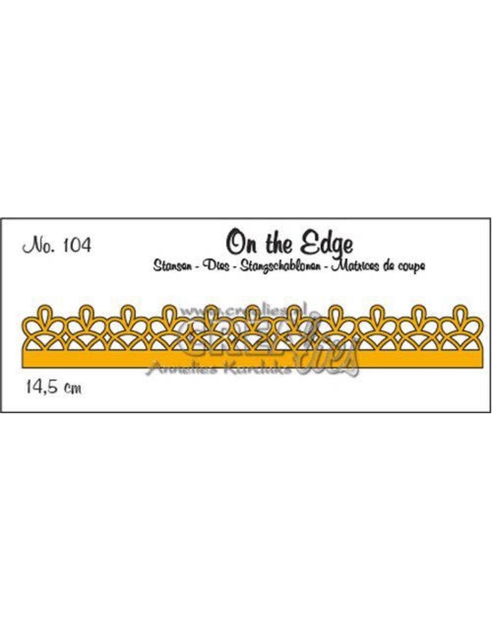 Crealies Crealies On the Edge On the Edge no. 104 pattern D CLOTE104 14,5 cm