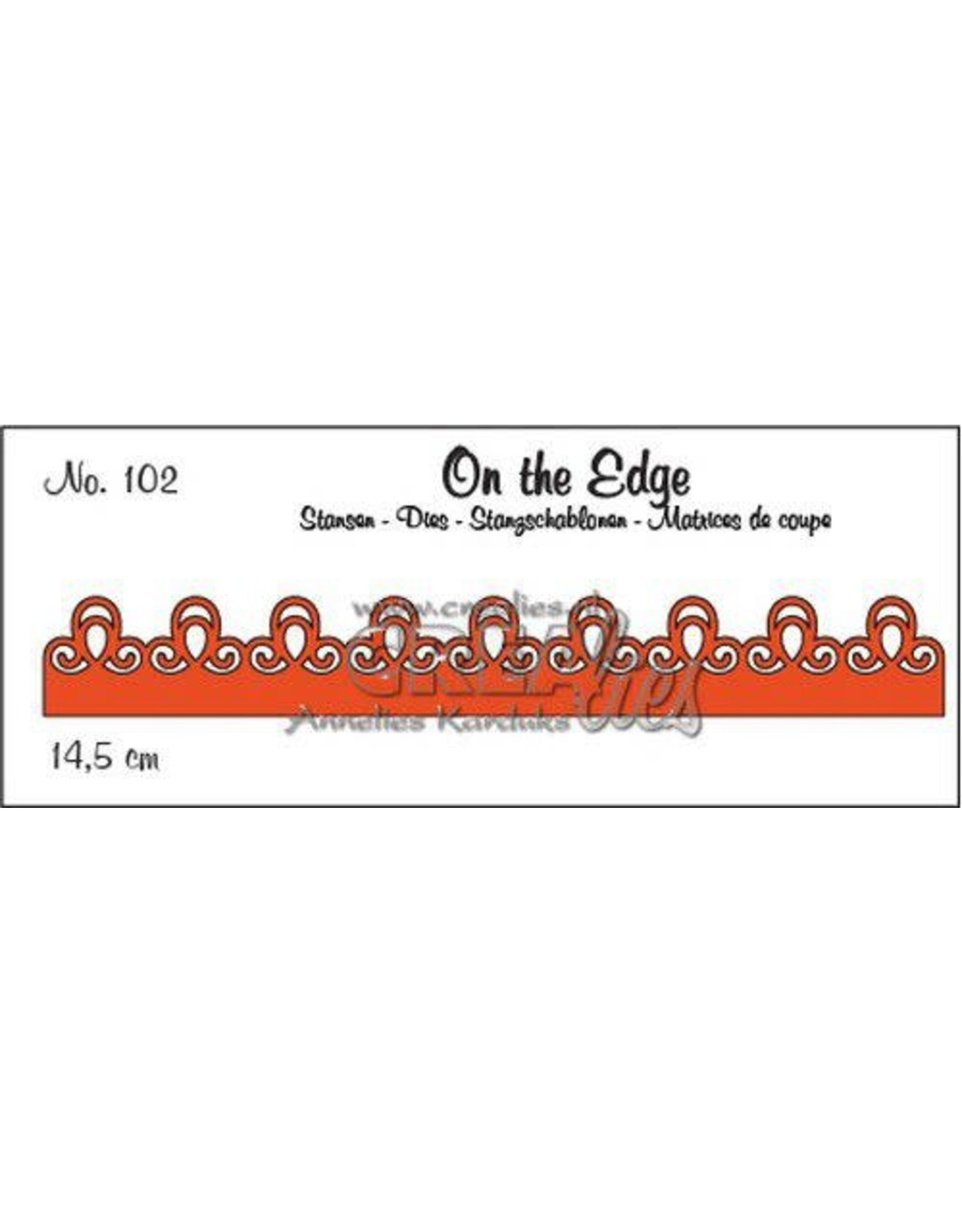 Crealies Crealies On the Edge On the Edge no. 102 pattern B CLOTE102 14,5 cm