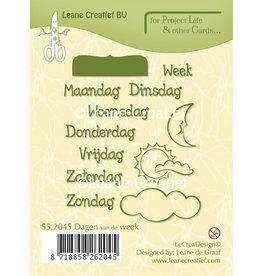 LeCrea - Leacrea Project Life & Cards clear stamp Dagen van de Week Nederlands  LCR55.2045
