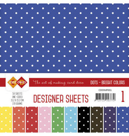 Card Deco Card Deco Designer Sheets Mega Pack 1 Bright Colors  CDDSMP001
