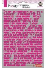Pronty Pronty Mask stencil A5 Bricks 470.770.012 by Jolanda