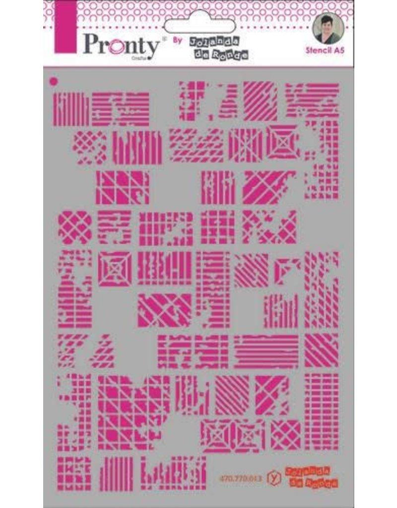 Pronty Pronty Mask stencil A5 Lines and squares 470.770.013 by Jolanda