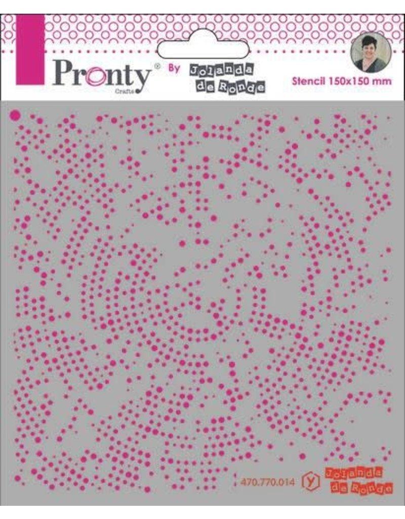 Pronty Pronty Mask stencil 15x15 Dots Radius 470.770.014 by Jolanda