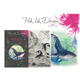 Creative Expressions Pink Ink Designs Whale PI020