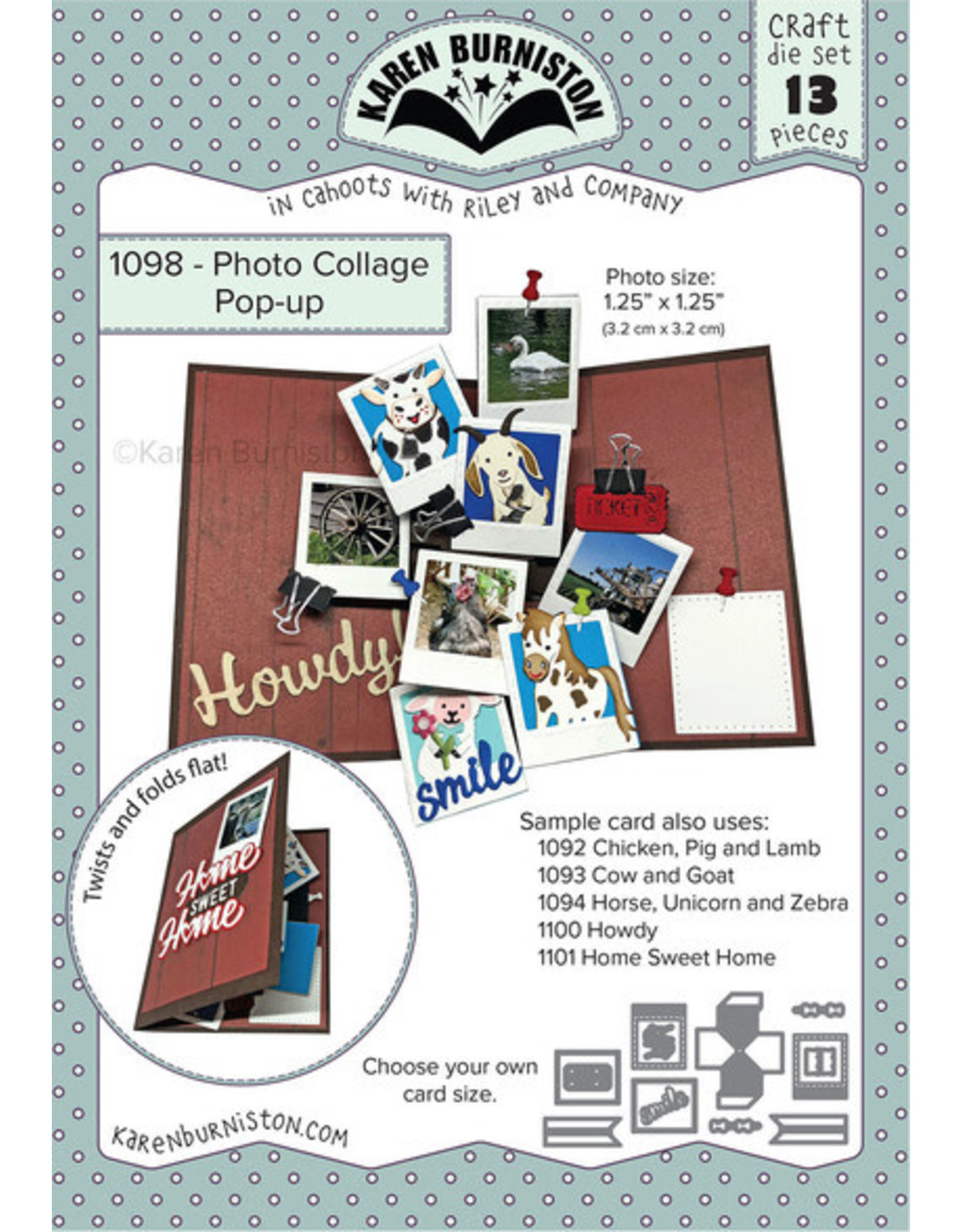Karen Burniston Karen Burniston Photo collage pop up 1098