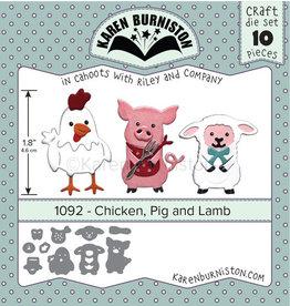 Karen Burniston Karen Burniston Chicken, Pig and Lamb 1092