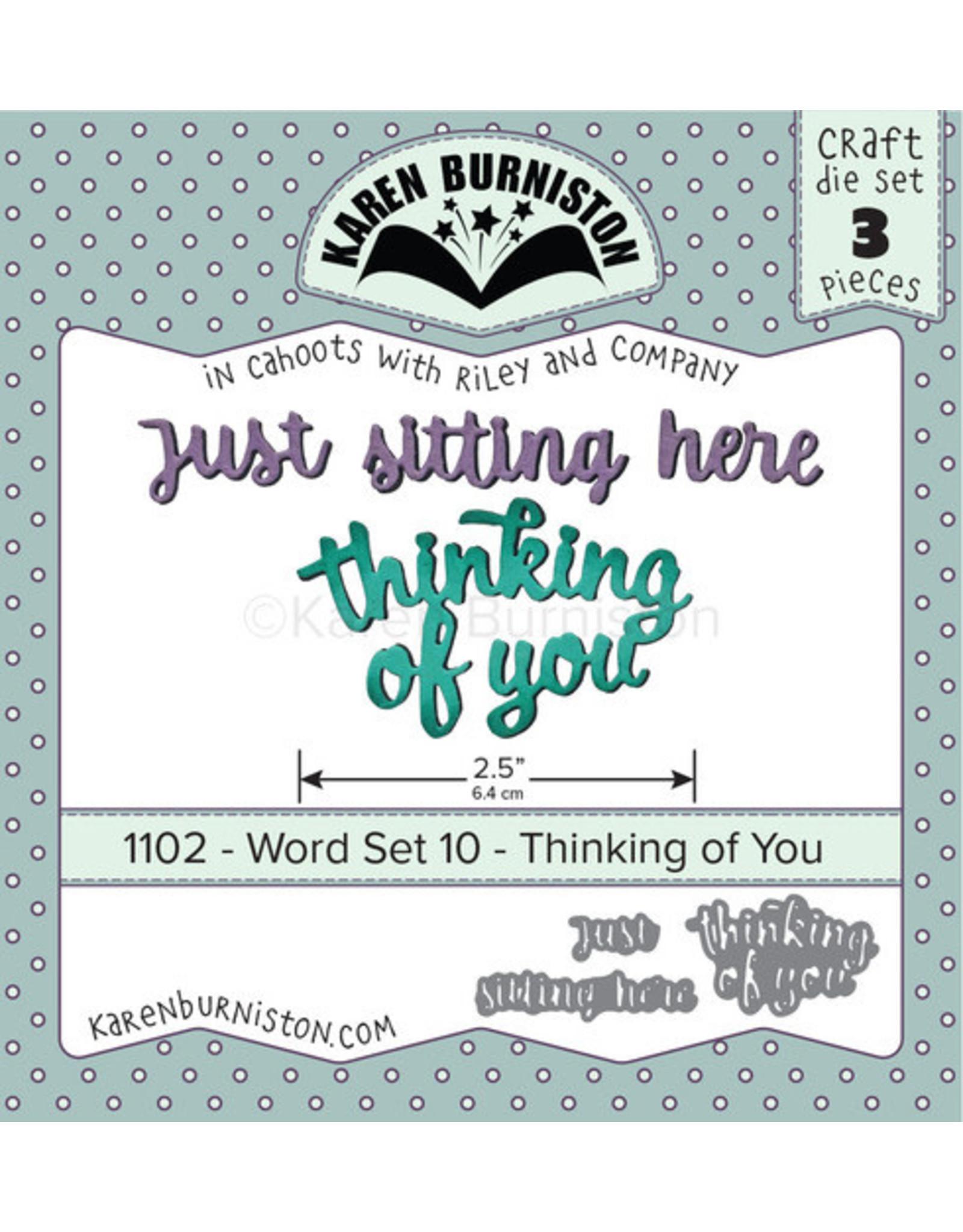 Karen Burniston Karen Burniston Word Set 10 Thinking of you 1102