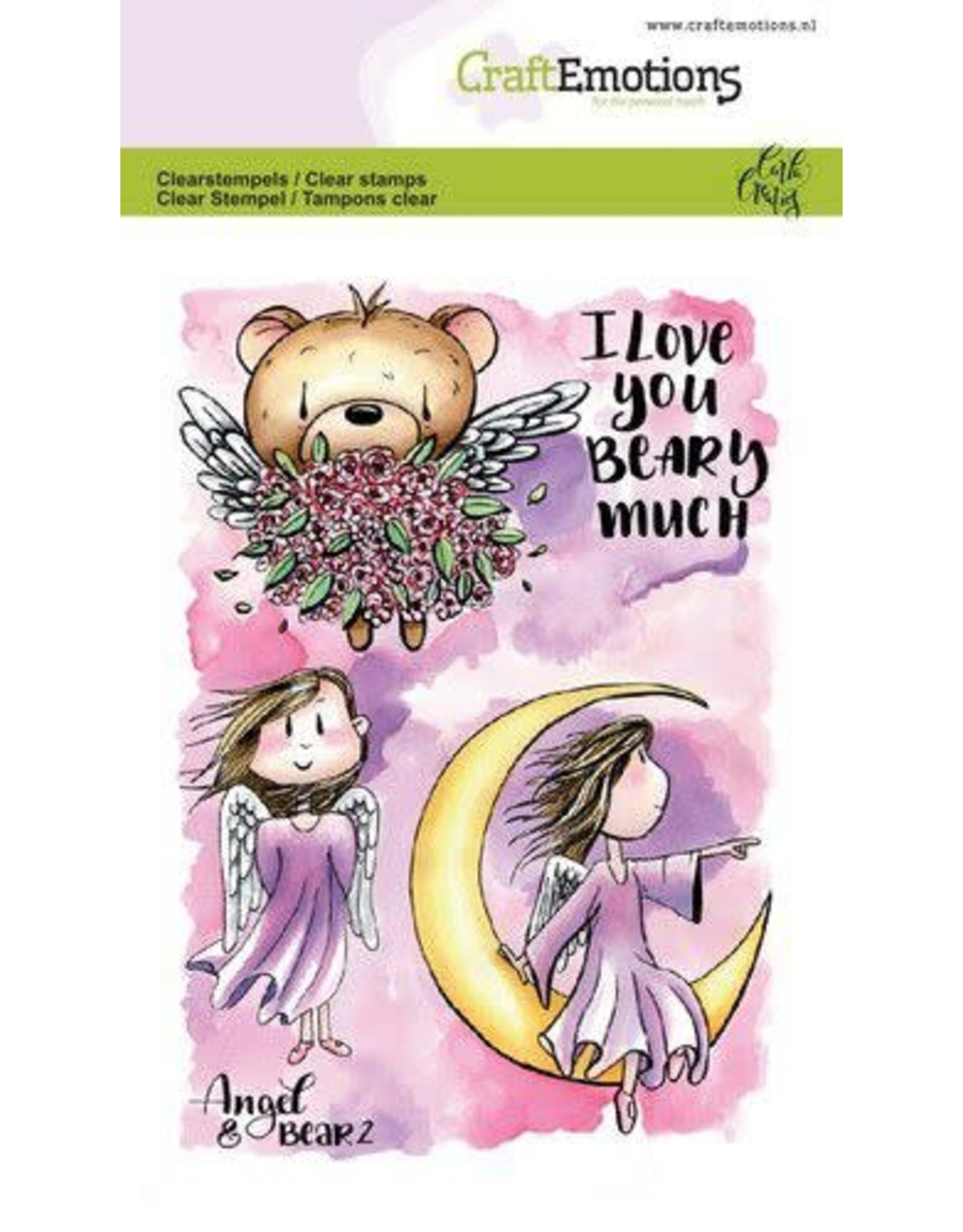 Craft Emotions CraftEmotions clearstamps A6 - Angel & Bear 2 Carla Creaties