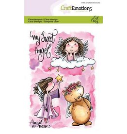 Craft Emotions CraftEmotions clearstamps A6 - Angel & Bear 3 Carla Creaties
