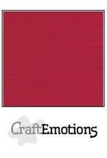 Craft Emotions CraftEmotions linnenkarton 10 vel kerstrood 27x13,5cm 250gr