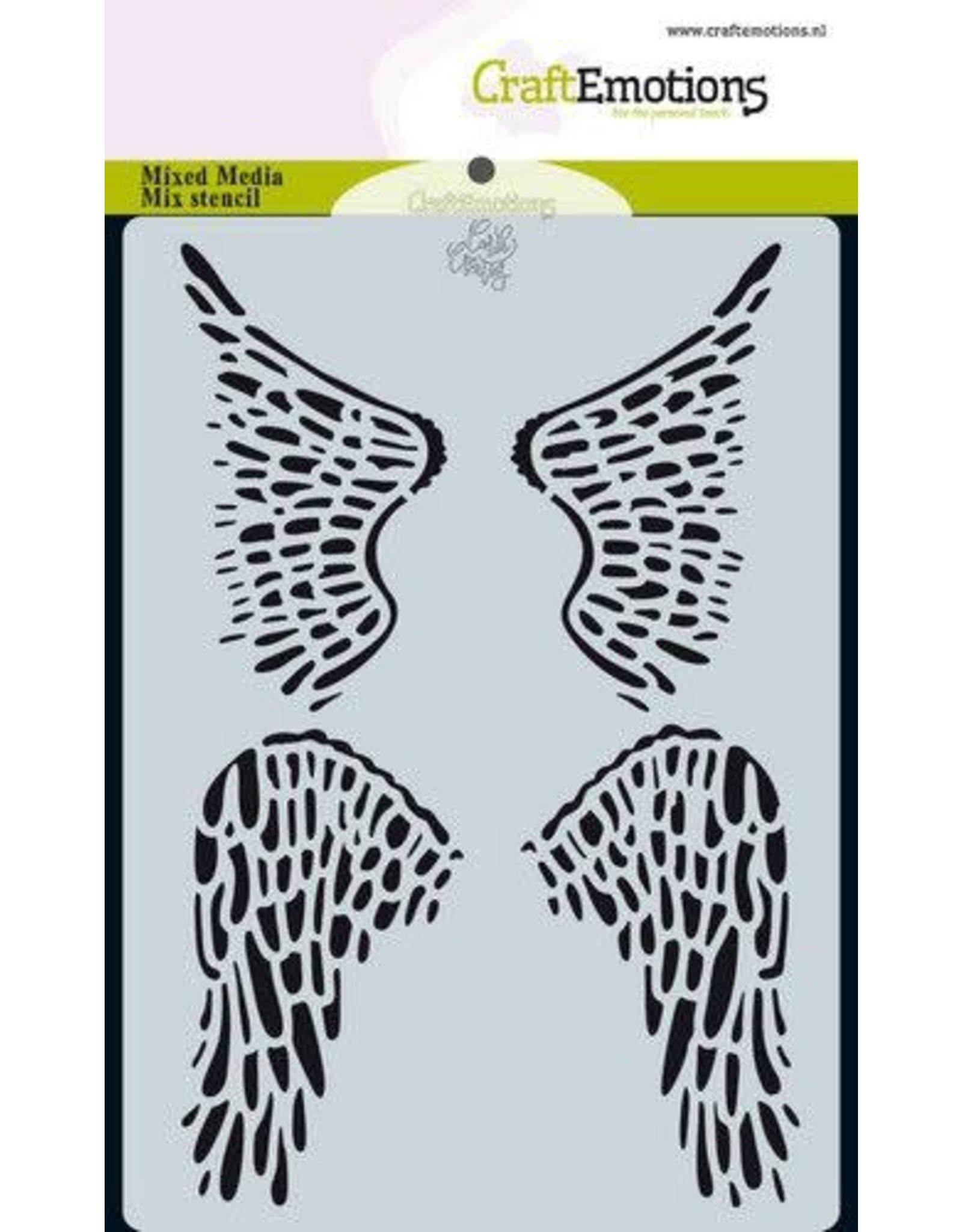 Craft Emotions CraftEmotions Mask stencil Angel & Bear - vleugels Carla Creaties