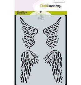 Craft Emotions CraftEmotions Mask stencil Angel & Bear - vleugels Carla Creaties