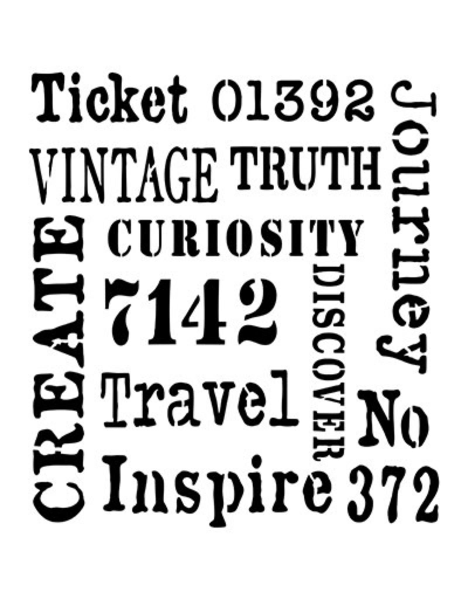 Creative Expressions Creative Expressions Andy Skinner Teksten Stencil Inspire CEASTEN004