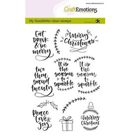 Craft Emotions CraftEmotions clearstamps A6 - handletter - Christmas 2 (Eng) Carla Kamphuis