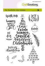 Craft Emotions CraftEmotions clearstamps A6 - handletter - Christmas 1 (Eng) Carla Kamphuis