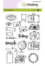 Craft Emotions CraftEmotions clearstamps A6 - My Journal - Travel Carla Kamphuis
