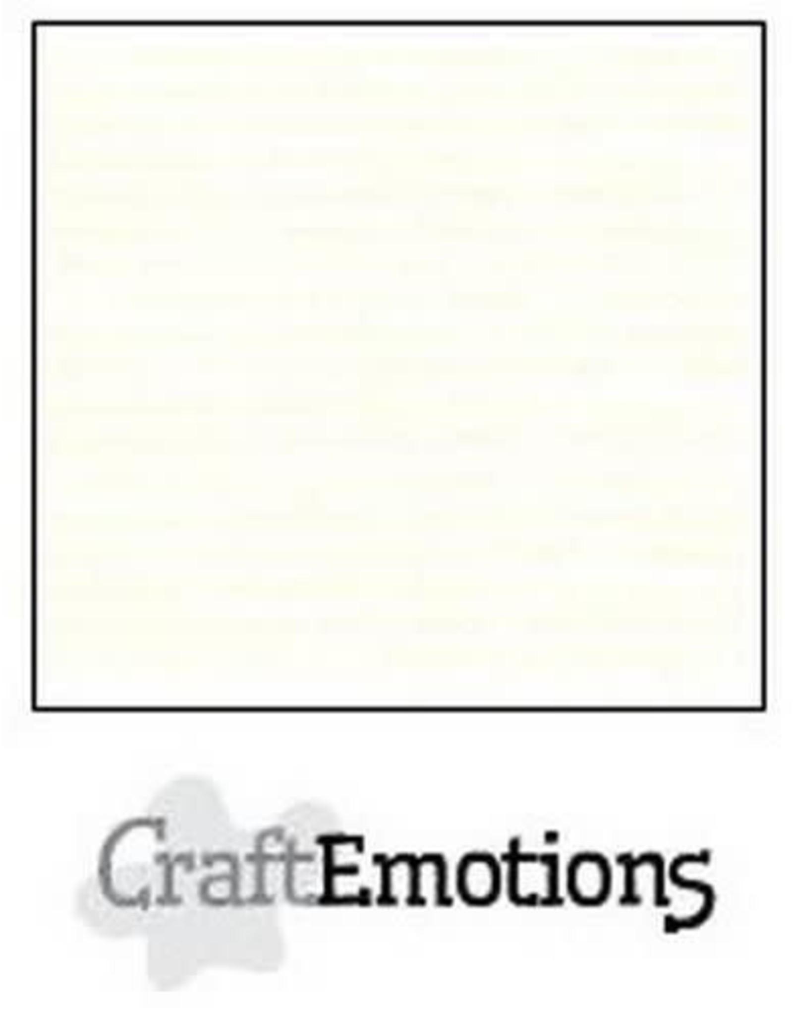 Craft Emotions CraftEmotions karton gladkarton 10 vel gebroken wit 30,0x30,0cm 250gr