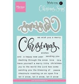 Marianne Design Marianne D Stempel Kerst liedje KJ1719