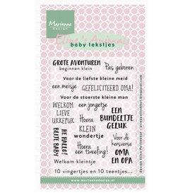 Marianne Design Marianne D Stempel Eline's baby tekstjes (NL) EC0171