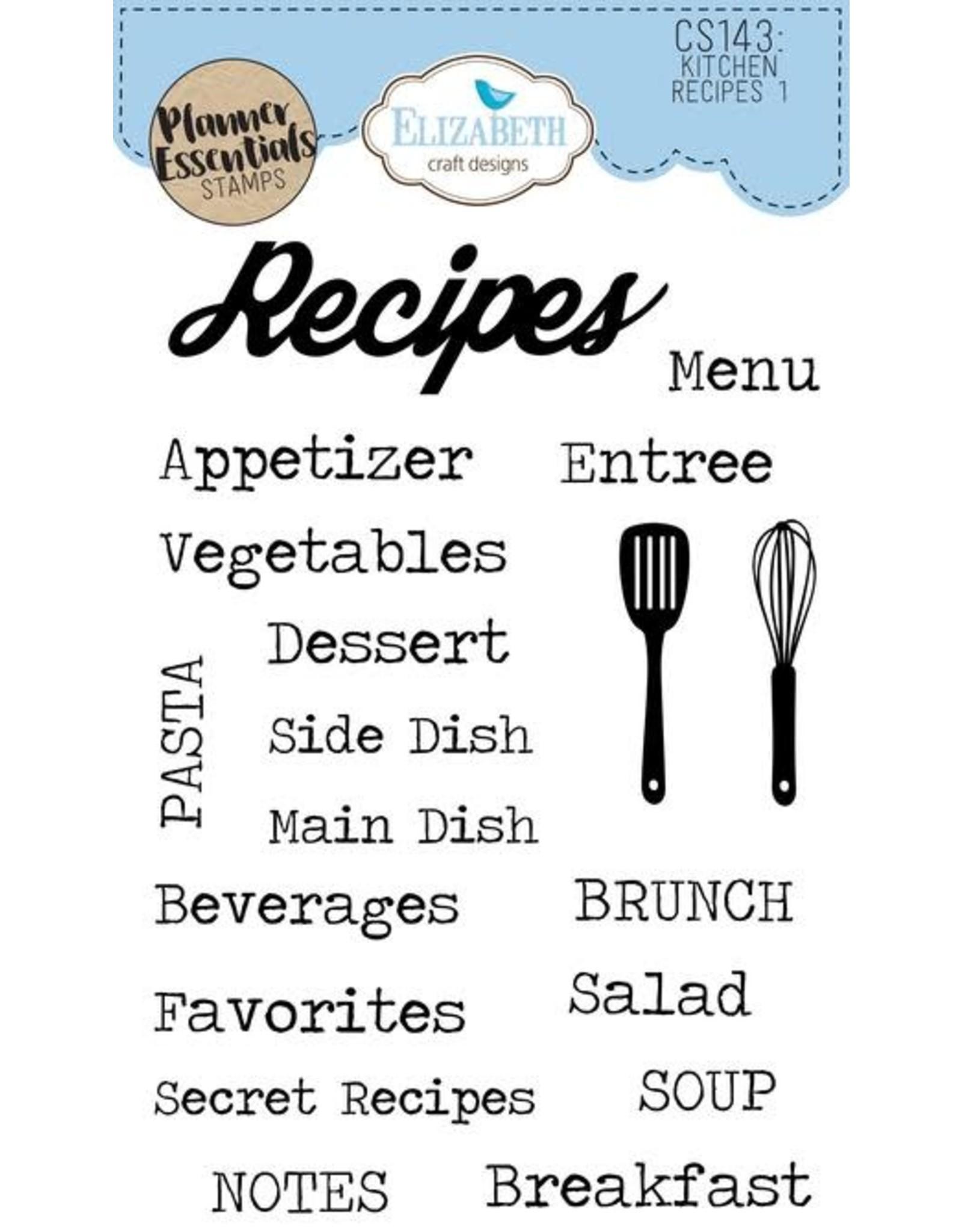 Elizabeth Craft Designs Elizabeth Craft Designs PLanner essentials stamps Kitchen recipes 1 CS143