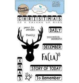 Elizabeth Craft Designs Elizabeth Craft Designs PLanner essentials stamps December moments CS140