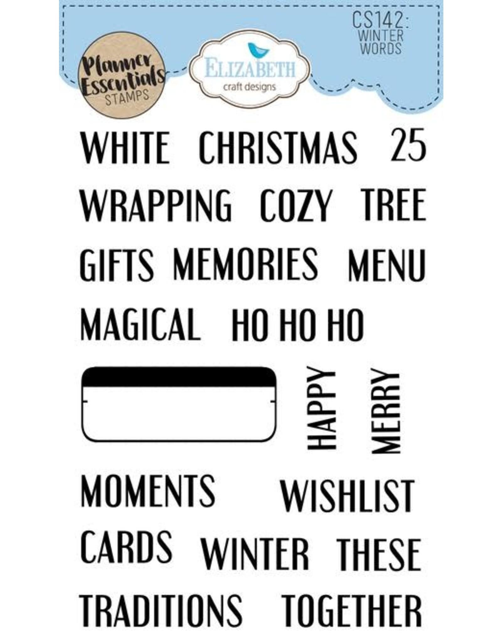 Elizabeth Craft Designs Elizabeth Craft Designs PLanner essentials stamps winter words CS142