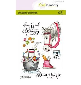 Craft Emotions CraftEmotions clearstamps A6 - Sint 2 Carla Creaties
